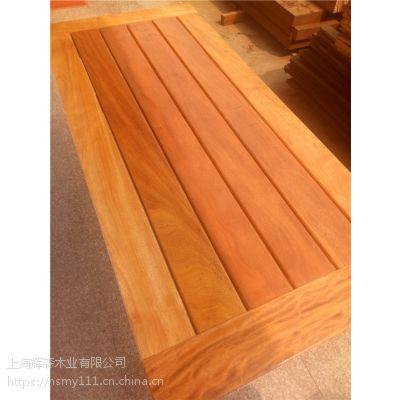 非洲菠萝格防腐木厂家原木开料任意规格板材价格