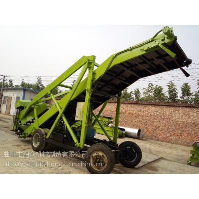 干湿草料带升降取料机 定制加工7米青贮机 畜牧养殖上料青贮机