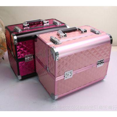 韩国专业大号手提化妆箱 多层美甲箱 带锁彩妆工具箱 化妆包包邮