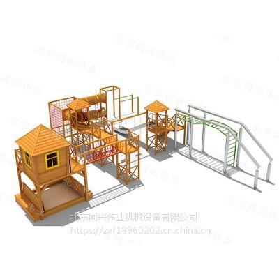 大型木制滑梯、攀爬架、儿童组合滑梯、拓展闯关训练,景区公园、幼儿园