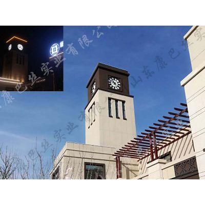 大型户外建筑塔钟机芯工程定制GPS校准夜光室内室外报时大面钟