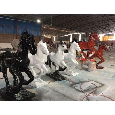 恩平玻璃钢动物雕塑厂家 园林景观马雕塑大量生产