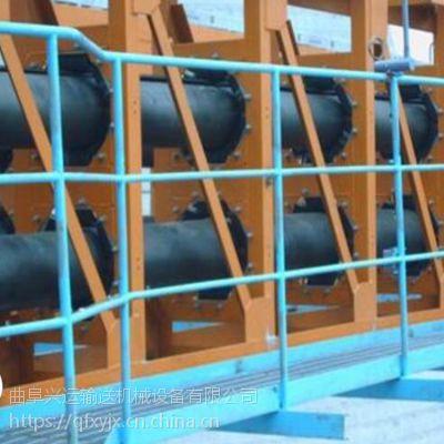 管状带式输送机不锈钢输送机 大提升量