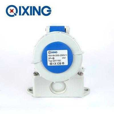 启星QX1192 3P/16A欧标工业防水明装插座