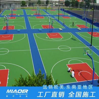 丙烯酸球场材料厂家,室外网球场地坪生产,塑胶球场工程施工