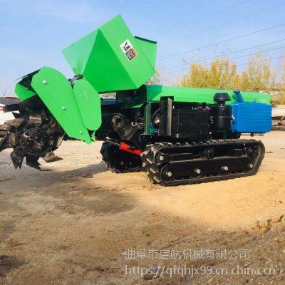 35马力履带除草机 启航自动回填的开沟机参数 山地丘陵专用松土机