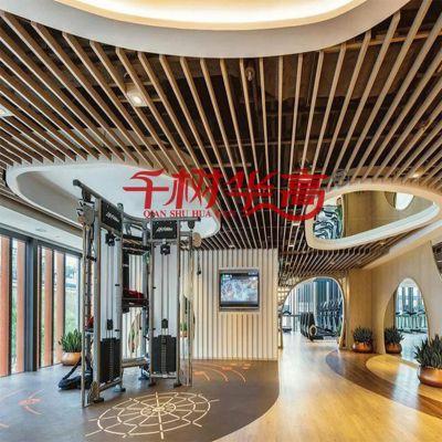 定制不规则线条铝方通酒店室内天花吊顶材料铝合金产品出厂价格