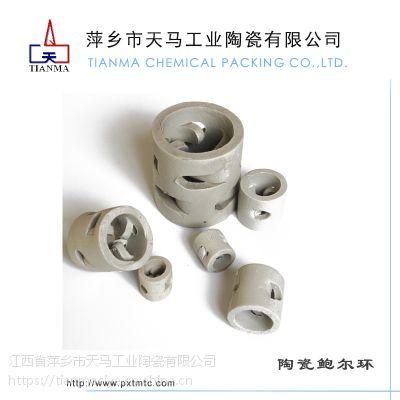 天马陶瓷供应陶瓷鲍尔环化工填料 用于化工 冶金 煤气 制氧