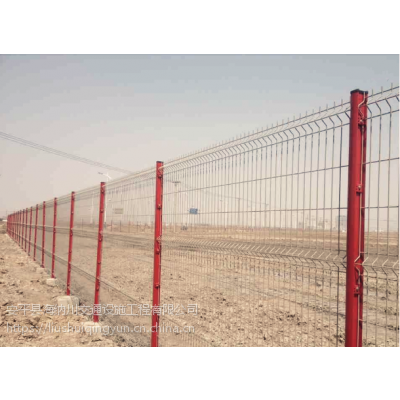 海纳川金属浸塑喷塑桃型柱防护隔离网