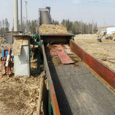 废旧模板粉碎机配移动液压可折叠输送机|华源模板破碎机聪明
