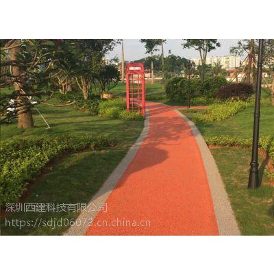 交地供应湖北武汉彩色透水混凝土地坪材料-满吨含运费