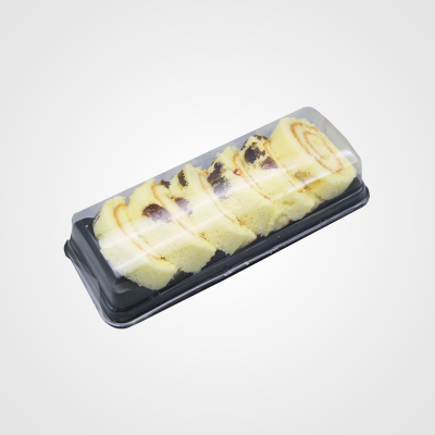 烘焙包装 瑞士卷切片梯形西点PET吸塑包装盒 慕斯蛋糕盒批发
