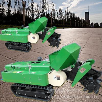 那个牌的果园专用履带开沟机便宜 普航履带回填机价格 自走式旋耕施肥机图片