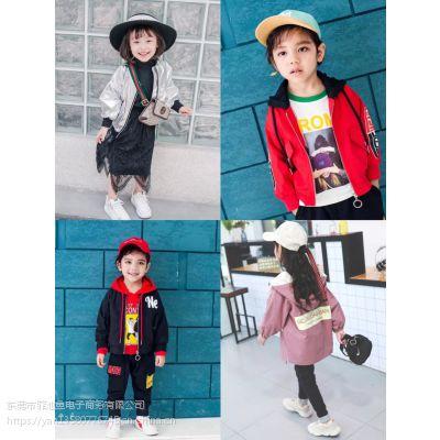 山东济南现在什么童装好卖中高档品质质量好的时尚百搭红色童装外套风衣批发全场20元店服装进货渠道