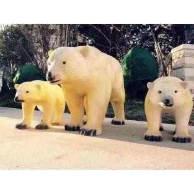 长沙 景观展示 玻璃钢雕塑 北极熊 工艺品模型 生产厂家