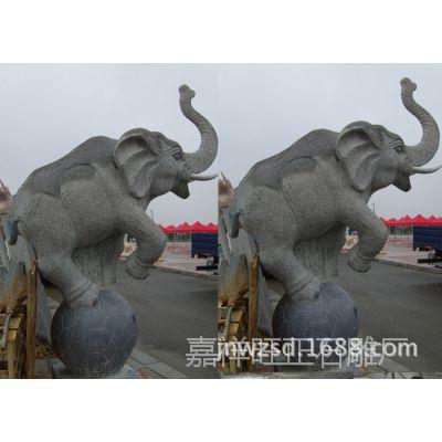 山东嘉祥旺正石雕专业加工制作景区青石大象