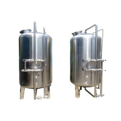 河南鹤壁市洗涤厂清洗布料生产用水过滤器 304不锈钢机械过滤罐 广旗制造