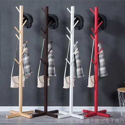 欧式实木衣杆架室内挂衣架撑衣架卧室衣帽架放挂衣服的架子多功能