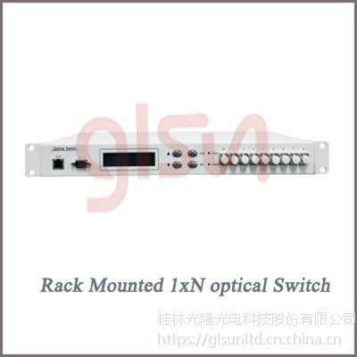 glsun光开关 光开关厂家 桂林光隆1xN(N≤16)机架光开关 光选路器 选光器
