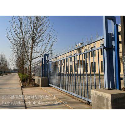 1.2米高锌钢围墙护栏效果图 尖头铁栏杆 防攀爬围墙