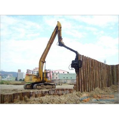 松江场地备有3号4号6-15米钢板桩租赁与施工,叶榭镇450机械臂打桩机出租拉森桩围堰打拔