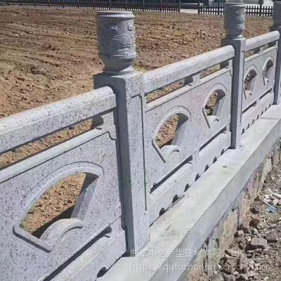 河道工程专用仿石头栏杆 混凝土水泥仿石护栏 扇形栏板价格