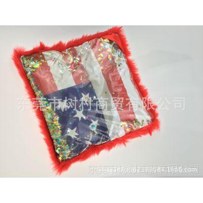 厂家定制出口美国注水抱枕 靠枕 毛绒抱枕 夏天清凉水枕