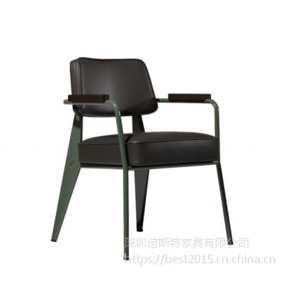 倍斯特热销简约现代铁木结合餐椅创意中餐湘菜厂家定制