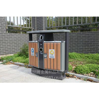 青海世腾户外垃圾桶厂家定制大型户外脚踏式垃圾桶小区翻盖果皮箱