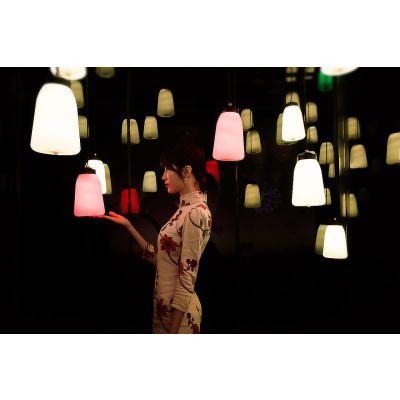 呼吸灯霓虹灯墙呼吸森林网红打卡地点梦幻星空网红馆生产厂家
