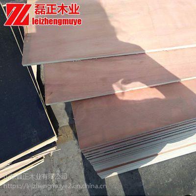 厂家直销桃花芯包装箱板磊正胶合板足6厘不开胶没树皮桃花芯包装箱板