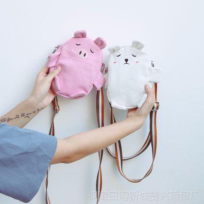 2018新款潮迷你文艺小方包可爱小猪萌少女小挎包学生小清新斜挎包