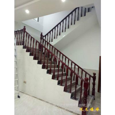 海南海口双边实木楼梯扶手供应-厂家供货定制价格优惠、包安装