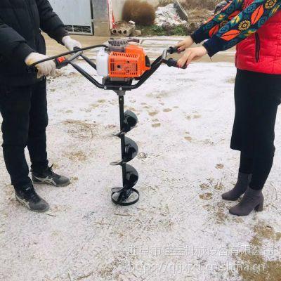 小型植树钻坑机品牌 佳鑫手推柴油打洞机 轻便钻地机价格