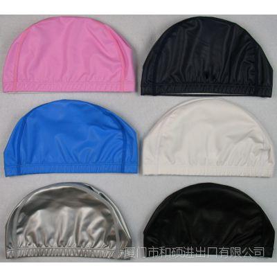 游泳帽厂家直销PU帽单色泳帽 超软PU泳帽