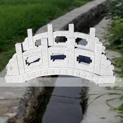石雕小桥大理石园林流水景观雕塑小石桥拱桥栏板扶手雕塑摆件曲阳万洋雕刻厂家定做