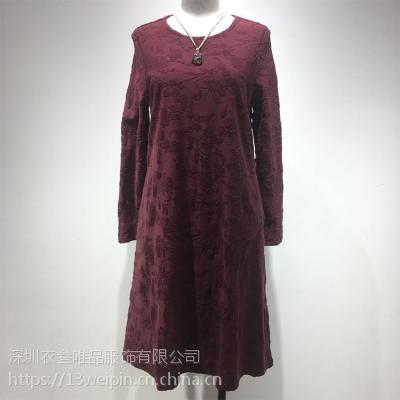 北京休闲高端品牌都兰女装专柜正品衣叁唯品折扣走份出货