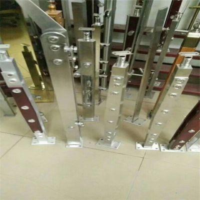 金聚进 不锈钢阳台扶手立柱 菱型楼梯栏杆立柱 不锈钢商场立柱加工定制