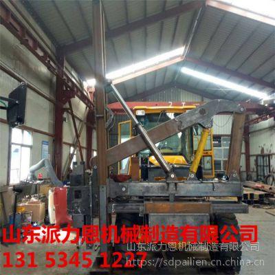 广西梧州履带式打桩机一种护栏打桩机光伏发电场螺旋桩安装-派力恩