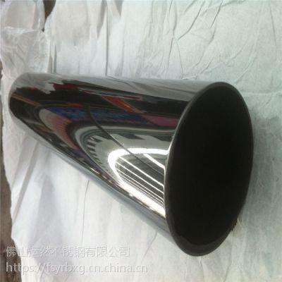 深圳-水镀黑钛金3米长度201不锈钢圆管15.9*1.0mm