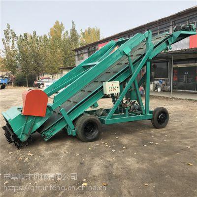 自动化移动取料机 润丰 装取成坑青贮取草机
