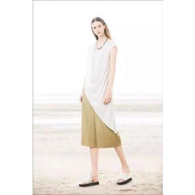 雾道德桑套装品牌正品真丝连衣裙高档女装品牌加盟 2019新款夏季女装