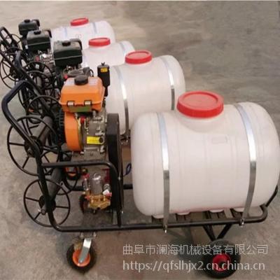 三轮推车式打药机 高压手推式喷雾器 拉管远程打药喷药机