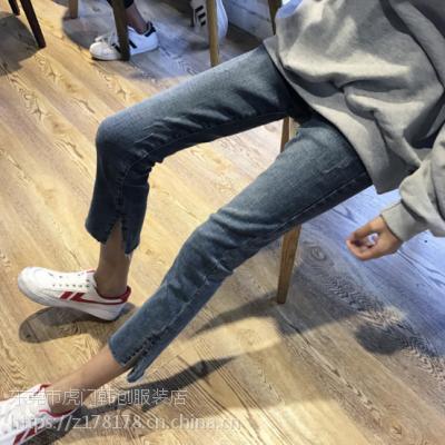 香港找货源去哪批发便宜牛仔裤时尚小脚裤工厂清货尾货女装批发