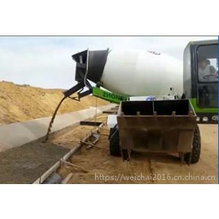 新款3方沙石料自装载搅拌车价格 云南自动铲料搅拌机经销