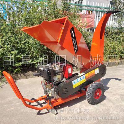厂家直销园林树枝粉碎机汽油大型碎木机家用移动式碎枝机