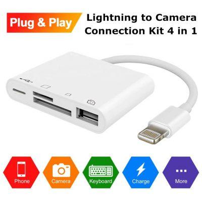 ios12四合一手机苹果OTG读卡器 lightning to usb数码相机套件