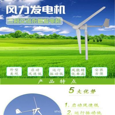 小型永磁风力发电机500w24v 路灯风光互补系统 家用风力发电系统 哈尔滨晟成