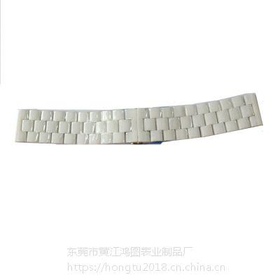 供应手表配件陶瓷表带 时尚百搭 广东手表配件厂家
