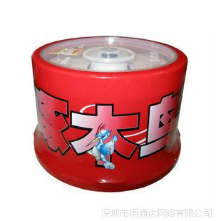 正品啄木鸟心情系列空白光盘刻录盘DVD-R 16X 50片桶装